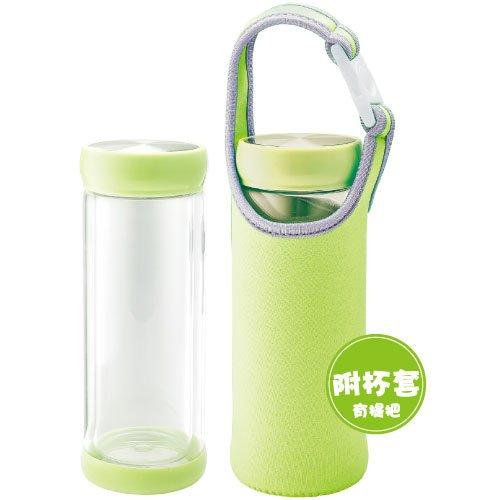 雙層耐熱玻璃水瓶